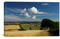 Bidwell Cross - Thorverton, Canvas Print
