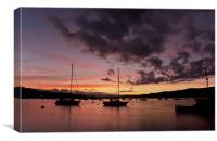 Sunset at Teignmouth, Canvas Print