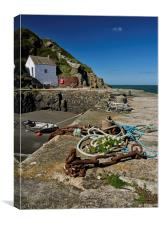 Porthgain in South Wales, Canvas Print