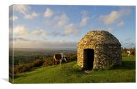 Culmstock Beacon, Canvas Print