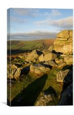Bonehill rocks on Dartmoor, Canvas Print