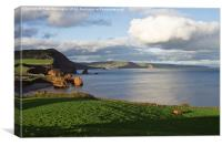 Ladram Bay, Canvas Print