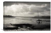 Instow at Low Tide, Canvas Print
