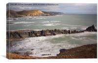 Hartland from Gull Rock, Canvas Print