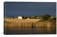 Topsham over Exeter Canal, Canvas Print