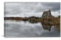 Lock Keepers Cottage at Topsham, Canvas Print