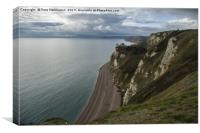 Branscombe beach from Beer Head, Canvas Print