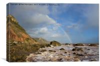 Rainbow over Dunscombe Cliff, Canvas Print
