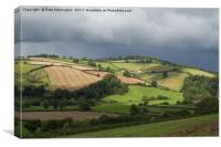 Hills round the Exe valley, Canvas Print