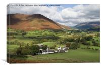 Rowling End from the Newlands valley, Canvas Print