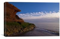 Orcombe Point Exmouth, Canvas Print