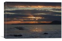 Sunset at Salcombe Mouth near Sidmouth, Canvas Print