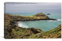 Cape Cornwall from Kenidjack Castle, Canvas Print