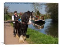 Horse and Barge, Canvas Print