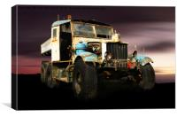 Comma truck, Canvas Print