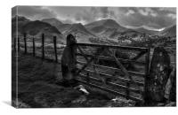 Newlands valley in the Lake District, Canvas Print