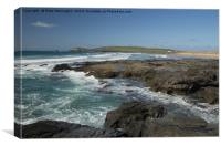 Constantine Bay in Cornwall, Canvas Print