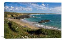 Gwithian beach in St Ives Bay, Canvas Print