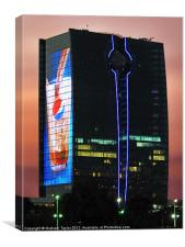 King's Road Tower - Jeddah, Canvas Print
