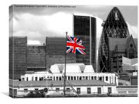 Union Jack - HMS Belfast, Canvas Print