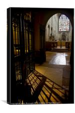 In The Shadows, Norwich Cathedral, Canvas Print