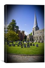 Hadleigh Church Suffolk. St Mary., Canvas Print