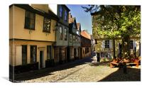 Elm Hill Norwich, Canvas Print