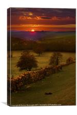 A Peak District Sunset, Canvas Print