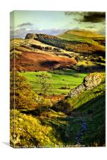 Lose Hill And Great Ridge, Canvas Print