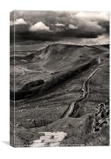 The Great Ridge To Mam Tor, Canvas Print
