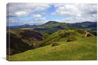 Church Stretton Golf Course, Canvas Print