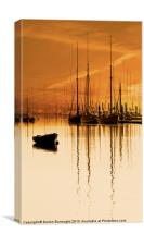 Tall Ships At Dawn, Canvas Print