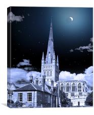 NORWICH CATHEDRAL ECLIPSE, Canvas Print