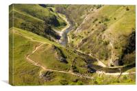 Dovedale View, Canvas Print