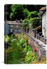 Castleton in the Peak District National Park, Canvas Print