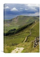 The Great Ridge, Hope Valley, Derbyshire., Canvas Print