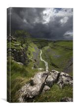 Gordale Beck After The Storm, Canvas Print