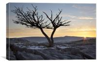 Ingleborough Sunrise From Hutton Roof, Canvas Print