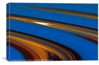 Blue and gold, Canvas Print