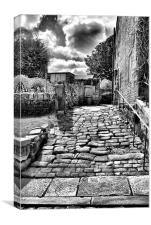 Heptonstall Back Alley, Canvas Print