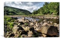 River Swale at Swaledale, Canvas Print