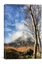 Buachaille and Birches, Canvas Print