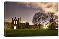 Kirkstall Abbey At Night, Canvas Print