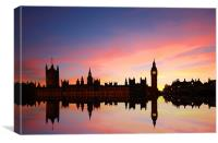 Westminster Reflections, Canvas Print