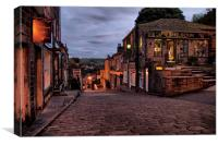 Haworth High Street At Dusk, Canvas Print