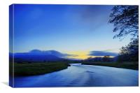 Nightfall In The Dales, Canvas Print