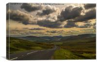 Dalescapes: Thunder Clouds Over Buttertubs, Canvas Print