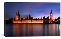 Westminster, London, Canvas Print