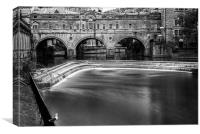 Pulteney Bridge, Monochrome, Canvas Print
