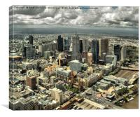 Melbourne City By Day, Canvas Print